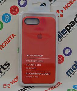 Оригинальный Чехол Alcantara Cover для Apple iPhone 7 Plus (Красный) (Акция!)