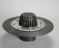 Кровельная воронка с прижимным фланцем из нержавеющей стали, 110/100 мм