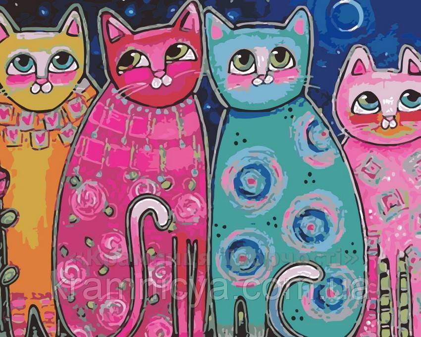 Картина по номерам Яркие коты, 40x50 (AS0165)