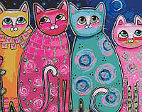 Картина по номерам Яркие коты, 40x50 (AS0165), фото 1