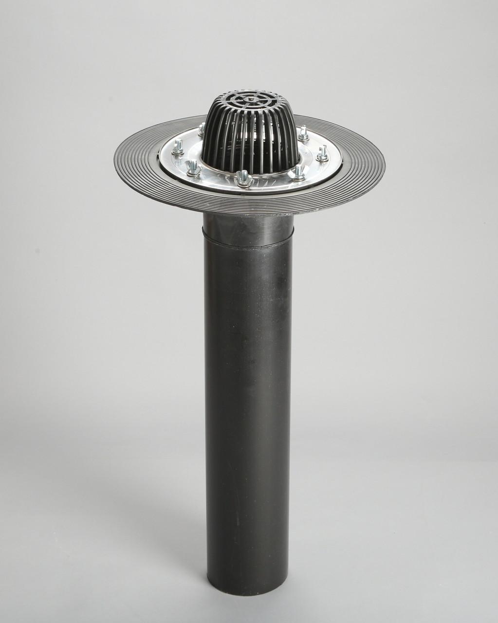 Кровельная воронка с прижимным фланцем из нержавеющей стали, 110/600 мм