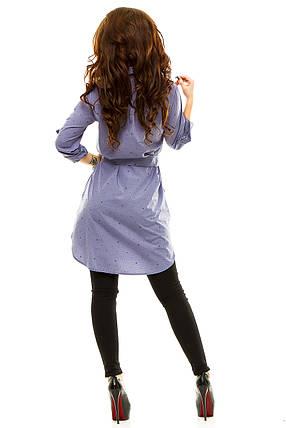 Платье- рубашка 274 серая принт, фото 2