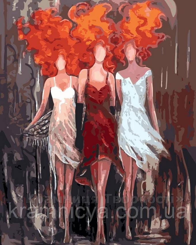 Картина по номерам Огненное трио, 40x50 (AS0184)