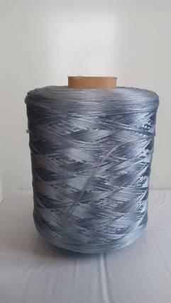 Нить для оверлока ковролина металлик голубой, фото 2