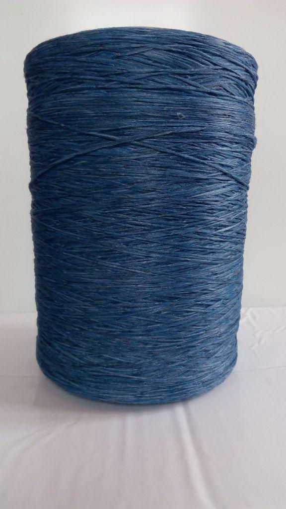 Нить для оверлока ковров меланж синий