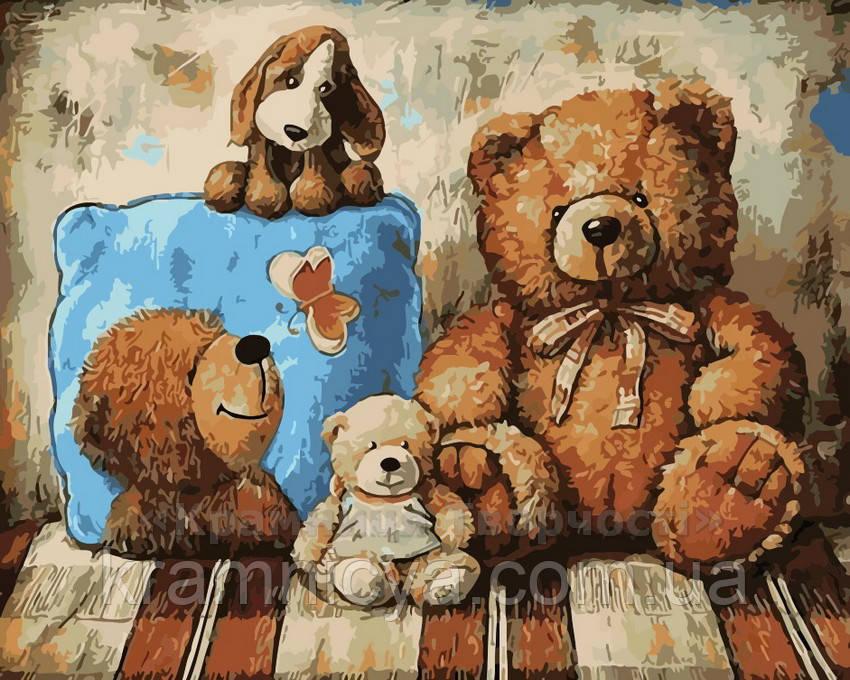 Картина по номерам Плюшевые друзья, 40x50 (AS0212)