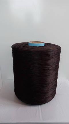 Нить для коврового оверлока темно-коричневая, фото 2