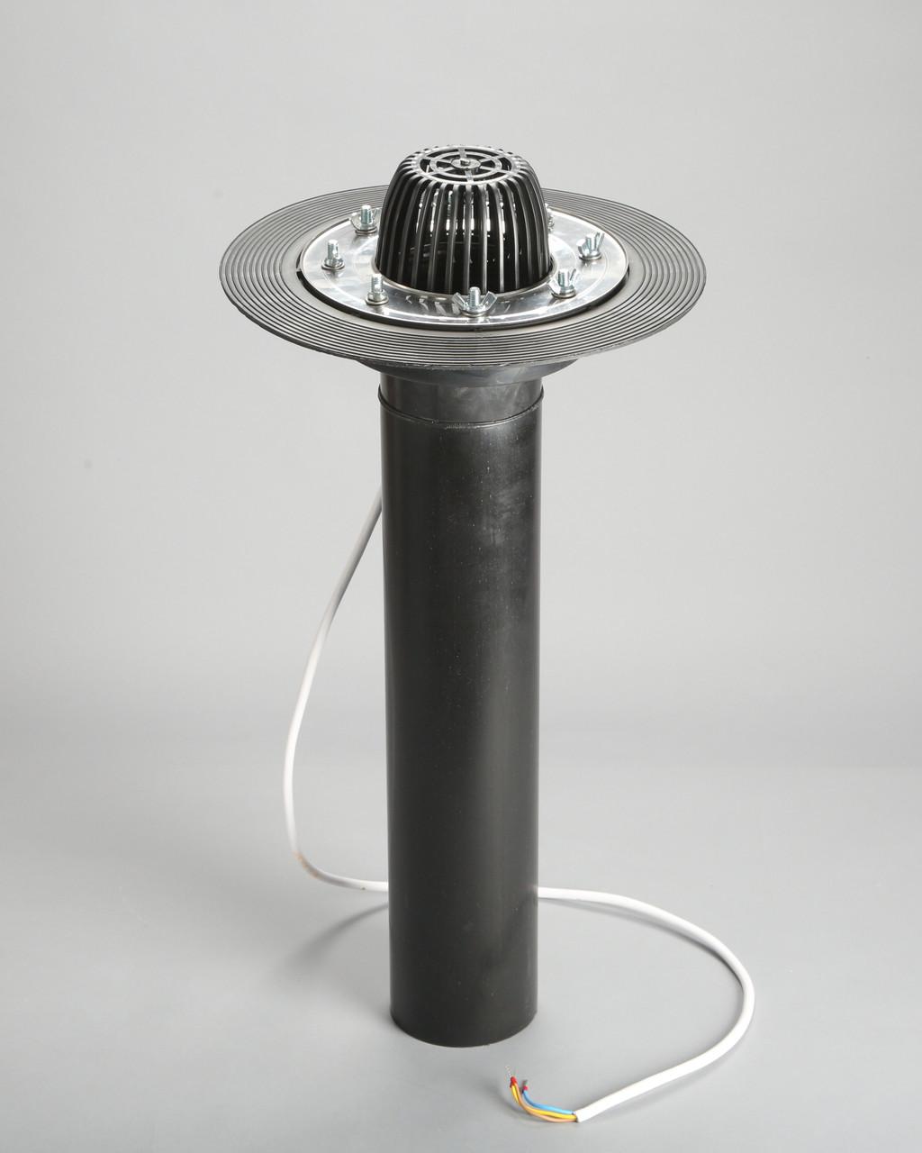Кровельная воронка с прижимным фланцем из нержавеющей стали и системой обогрева, 110/600 мм