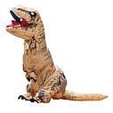 Надувной костюм Тираннозавр (коричневый), фото 2