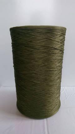Нитки для оверлока ковролина хаки зеленая, фото 2
