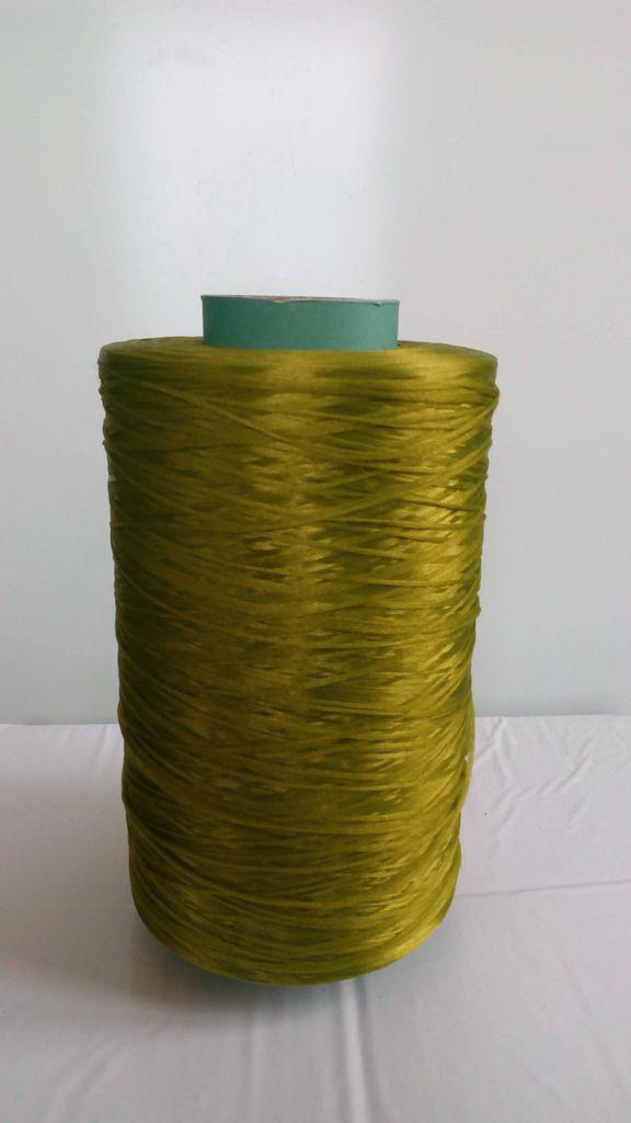 Нитки для оверлока ковролина металлик хаки зеленая
