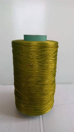 Нитки для оверлока ковролина металлик хаки зеленая, фото 2