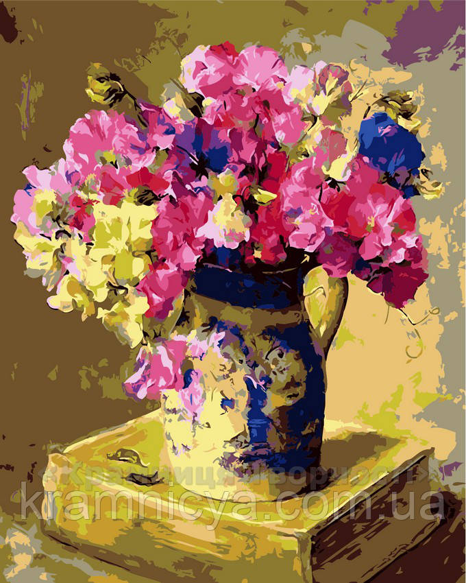 Картина по номерам Цветочная история, 40x50 (AS0121)