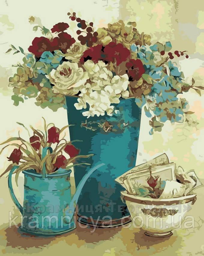 Картина по номерам Винтажные цветы, 40x50 (AS0118)