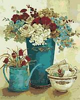 Картина по номерам Винтажные цветы, 40x50 (AS0118), фото 1