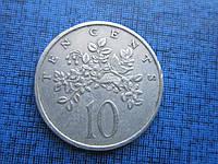 Монета 10 центов Ямайка 1982