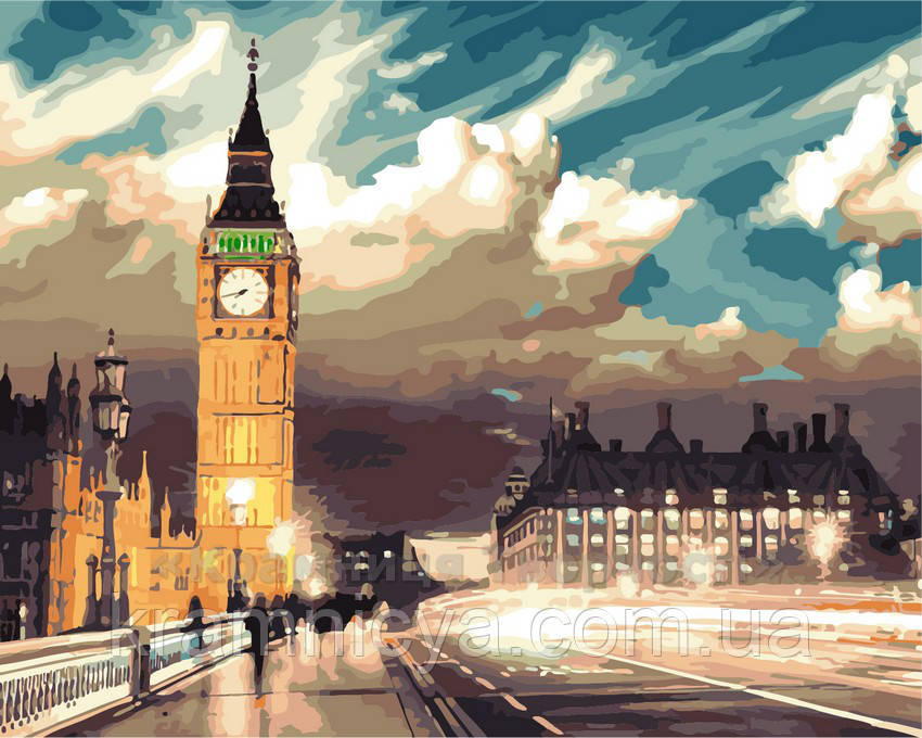 Картина за номерами Нічний Лондон, 40x50 (AS0138)