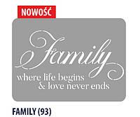 Декоративный шаблон (FAMILY #93) Primacol XXL 60 * 44 см