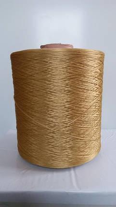 Нитки для оверлока ковров золотистая, фото 2