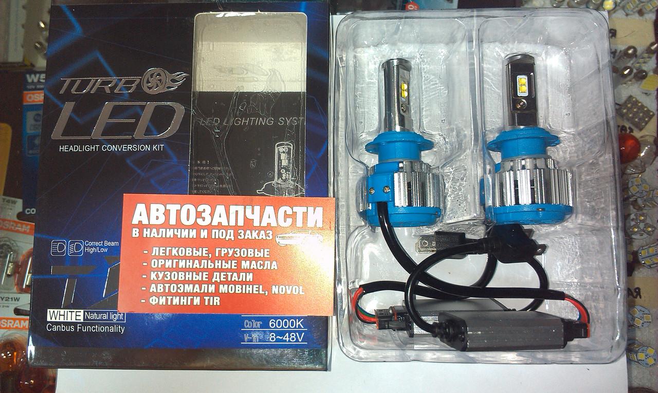 Лампы LED Н-7 12-24V 6000к 4200lm к-т с 2-х шт Turbo Led