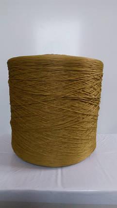Нитки для оверлока ковролина металлик хаки зеленая 2, фото 2