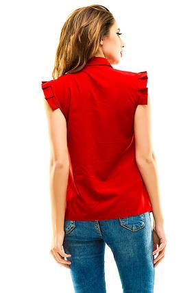 Блузка 272 красная, фото 2