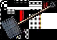 Лопата для уборки снега, 48 см. с деревянным черенком, RL-48, KT-CXRL