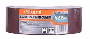 Шлифовальная лента, Шлифлента (76х533мм, Р150, 10шт) Sturm 9010-B76x533-150