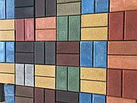 Тротуарная плитка Кирпичик стенд 1-2