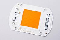 Фито LED Матрица 220V (встр.драйвер) полный спектр Full Spectrum LED 50 Вт 400-840нм
