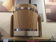 Ведро-водопад дубовое для бани, 15 литров