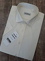 Мужская рубашка цвета шампань с коротким рукавом