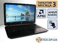 Ноутбук HP 15-f 15.6 Сенсорная (1366x768) / AMD A8-7410 (4x2.2Gz) / RAM 4Gb / HDD 1Tb / АКБ 3 ч. / Сост. 8.5/10 БУ