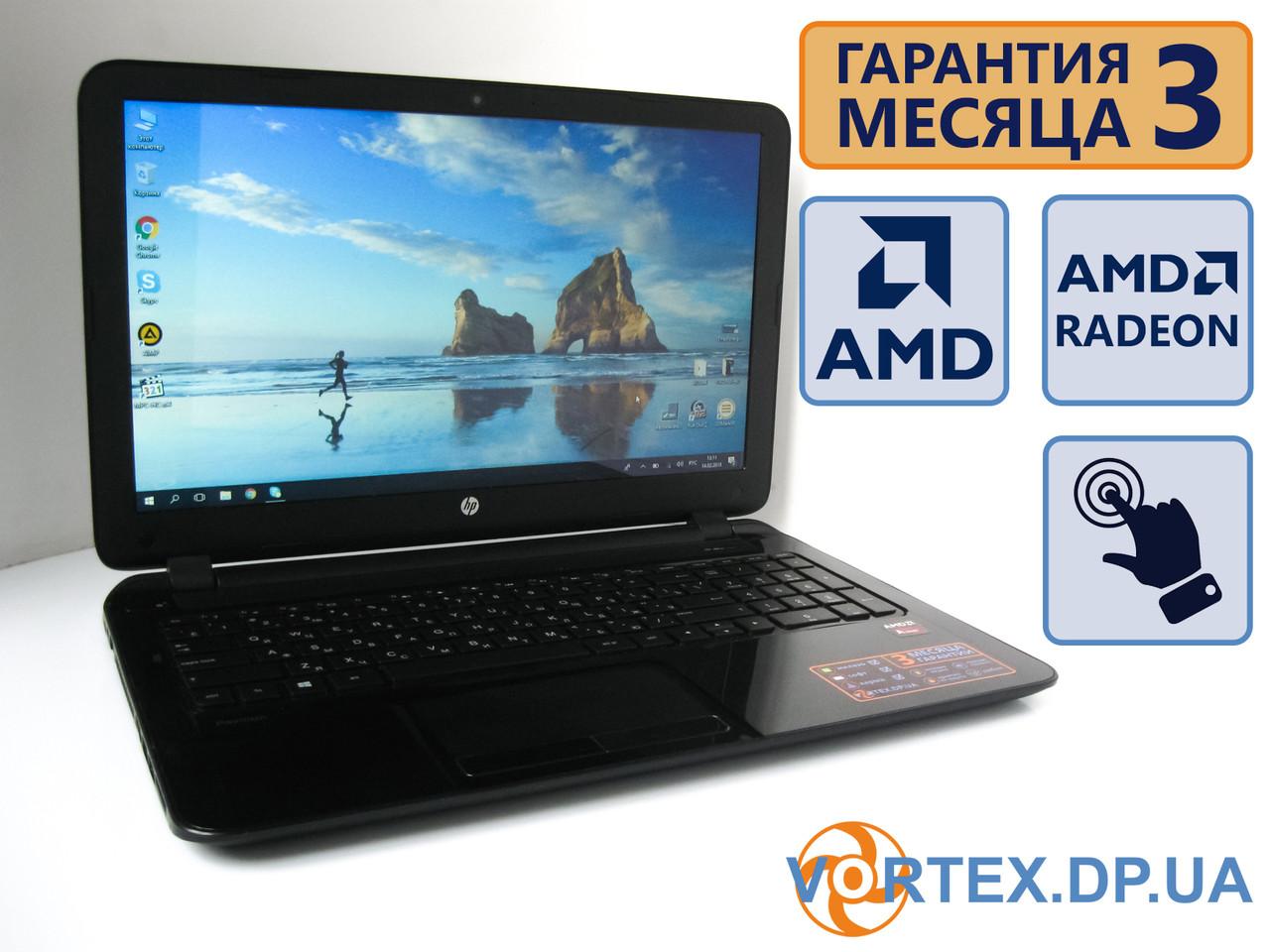 Сенсорный ультрабук HP 15-F 15.6 (1366x768) / AMD A8-7410 (4x2.2Gz) /