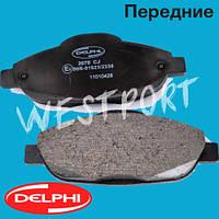 Тормозные колодки Delphi Peugeot 308 Peugeot 3008 Передние Дисковые Без датчика износа LP2070