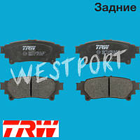 Тормозные колодки TRW Lexus GS Lexus IS Lexus RX Toyota SIENNA Lexus RC Задние Дисковые Без датчика износа GDB4174