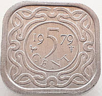 Суринам 5 центов 1979