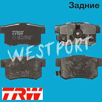 Тормозные колодки TRW Honda CIVIC Honda FR-V Honda ACCORD Honda CR-V Honda CROSSTOUR Задние Дисковые Со звуком износа GDB3438