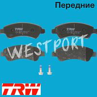 Тормозные колодки TRW Citroen BERLINGO Citroen C4 Citroen C3 Citroen C2 Citroen XSARA Передние Дисковые Без датчика износа GDB1563