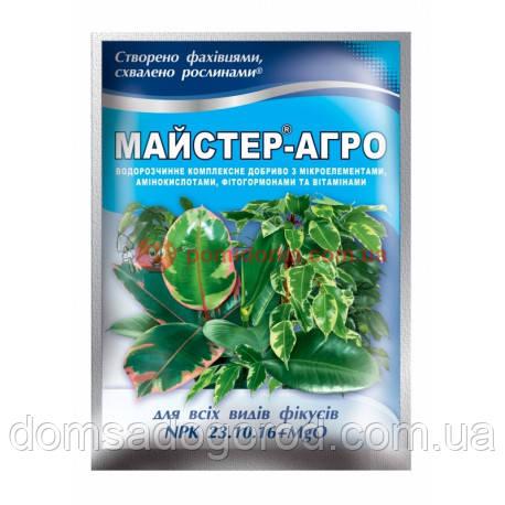 Комплексное удобрение МАСТЕР-АГРО 23.10.16 для фикусов Valagro 25 г