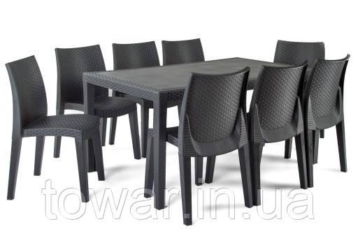 Садовая мебель Ротанг PRINCE Lady 8 стульев EUROHIT Garden