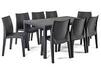 Садовая мебель Ротанг PRINCE Lady 8 стульев EUROHIT Garden, фото 1