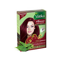 Фарба для волосся Dabur Vatika на основі хни Бордова 6х10 г (D01722)
