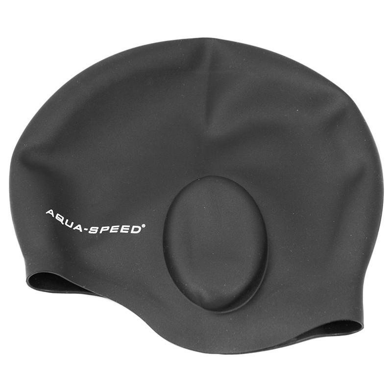 Шапочка для плавання з вухом Aqua Speed Ear (original) для басейну, силікон