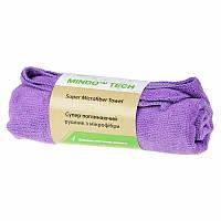 Полотенце 45*95см микрофибра  фиолет