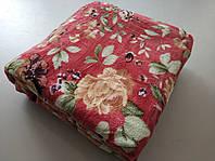 Микрофибровая простынь, покрывало Elway полуторное Бордовые розы