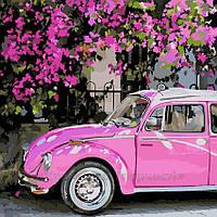 Картина по номерам Розовое авто, 40x40 (AS0224), фото 1