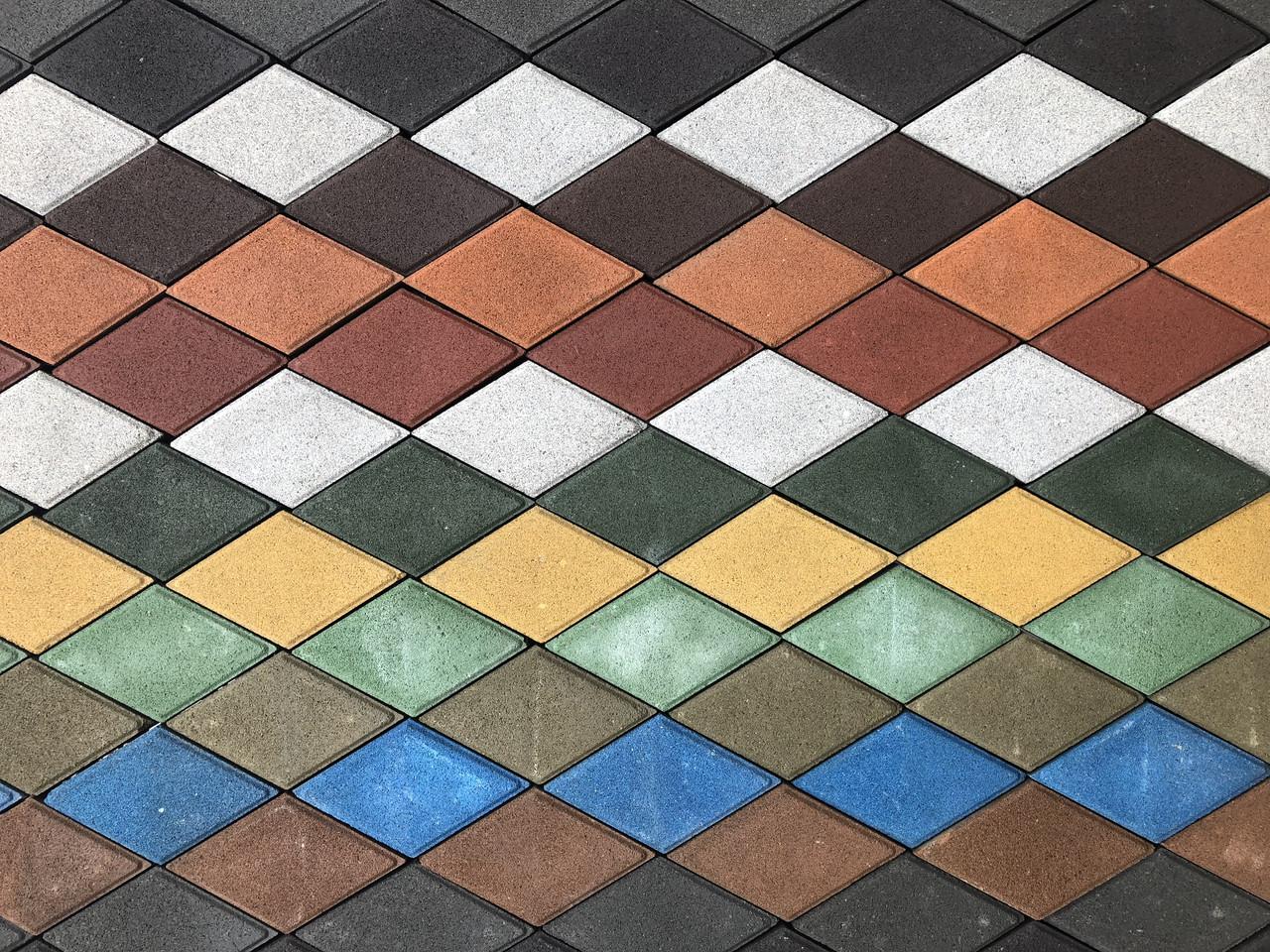Тротуарная плитка Ромб стенд 2