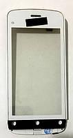 Сенсор (тачскрін) для Nokia C5-03/C5-06 White з рамкою