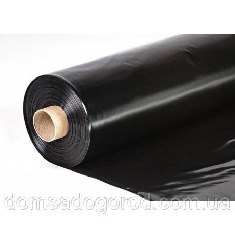 Пленка полиэтиленовая черная для мульчирования почвы Пластмодерн 1500мм-120-мкм-100 м.